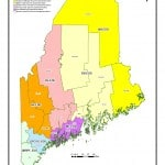 A map of Maine's economic development districts